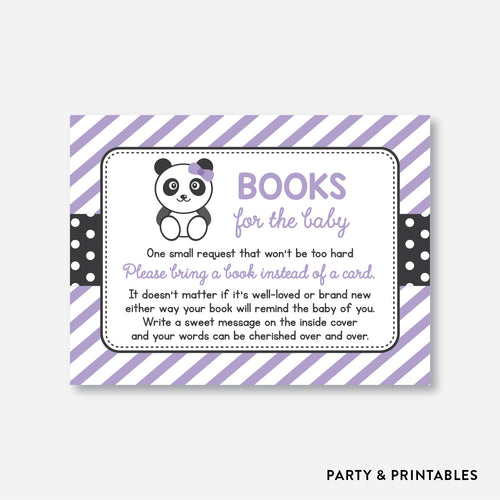 Panda Books For The Baby / Non-Personalized / Instant Download (SBS.08)