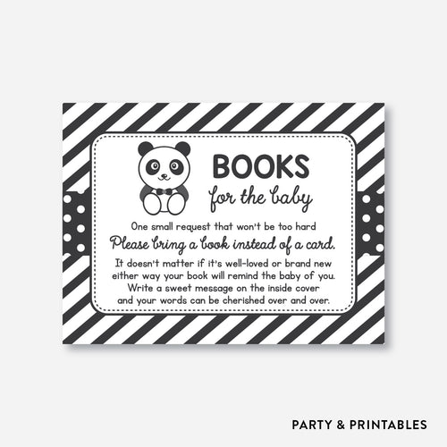 Panda Books For The Baby / Non-Personalized / Instant Download (SBS.09)
