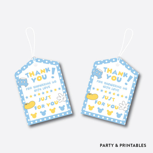 Baby Mickey Favor Tags / Non-Personalized / Instant Download (SBS.21)