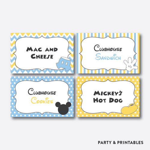 Baby Mickey Food Labels / Editable / Instant Download (SBS.21)