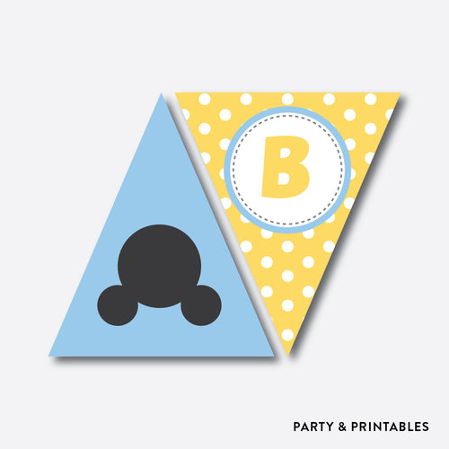 Baby Mickey Party Banner / Baby Shower Banner / Non-Personalized / Instant Download (SBS.21)