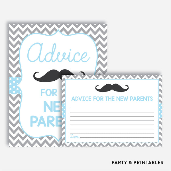 Mustache Advice For The Mommy To Be / Non-Personalized / Instant Download (SBS.22)