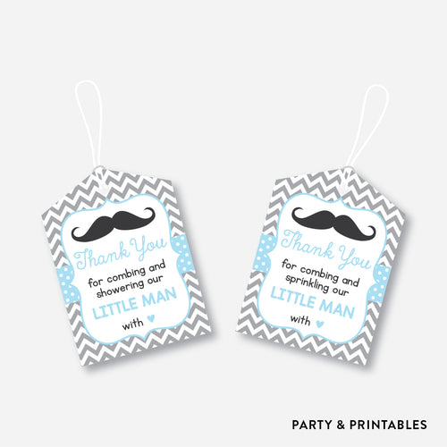 Mustache Favor Tags / Non-Personalized / Instant Download (SBS.22)