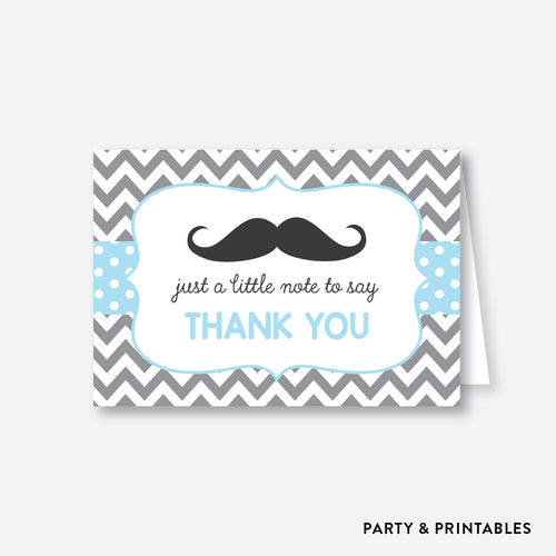 Mustache Baby Shower Thank You / Non-Personalized / Instant Download (SBS.22)