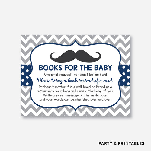 Mustache Books For The Baby / Non-Personalized / Instant Download (SBS.23)