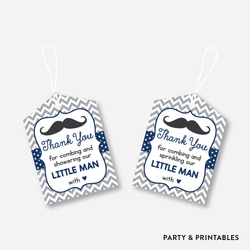 Mustache Favor Tags / Non-Personalized / Instant Download (SBS.23)