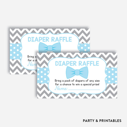 Bow Tie Diaper Raffle / Non-Personalized / Instant Download (SBS.26)