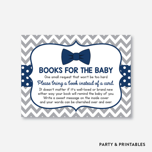 Bow Tie Books For The Baby / Non-Personalized / Instant Download (SBS.27)