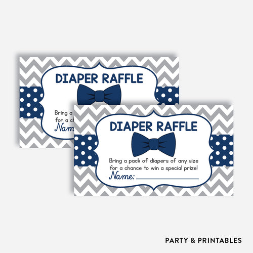 Bow Tie Diaper Raffle / Non-Personalized / Instant Download (SBS.27)