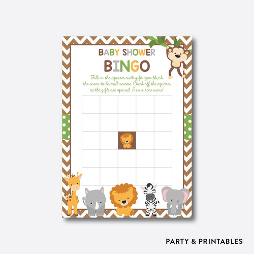 Baby Safari Bingo / Non-Personalized / Instant Download (SBS.31)