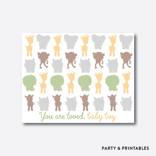 Baby Safari Guestbook Alternative / Non-Personalized / Instant Download (SBS.31)