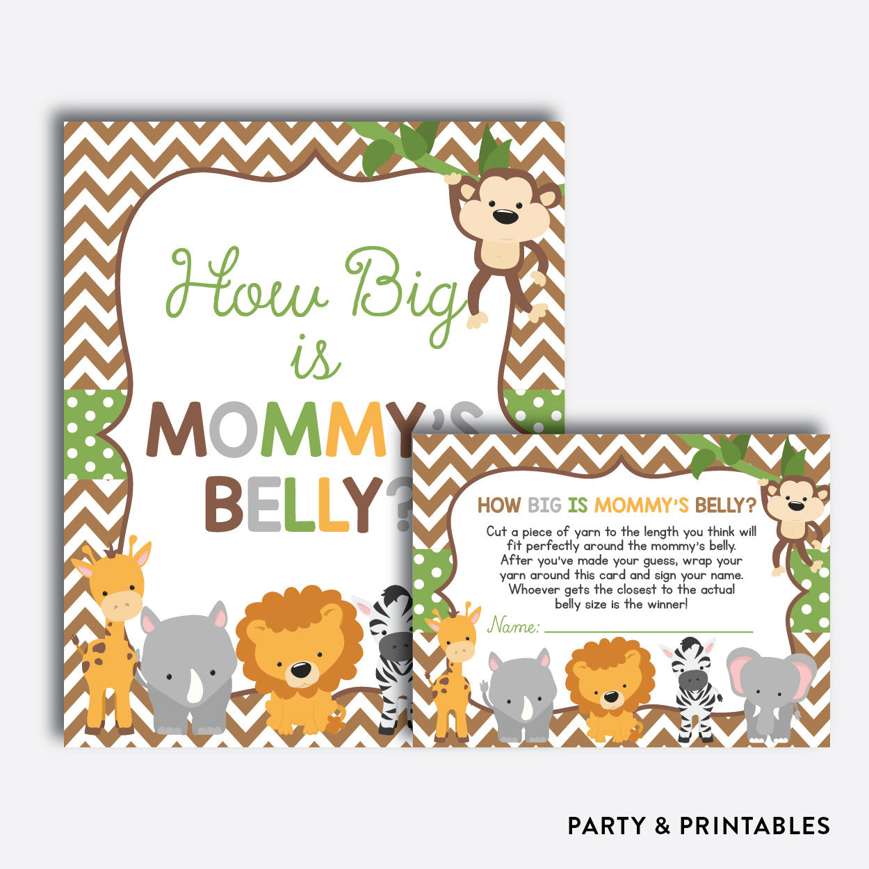 picture about How Big is Mommy's Belly Free Printable named Kid Safari How Massive is Mommys Abdomen / Non-Customized / Instantaneous Down load (SBS.31)