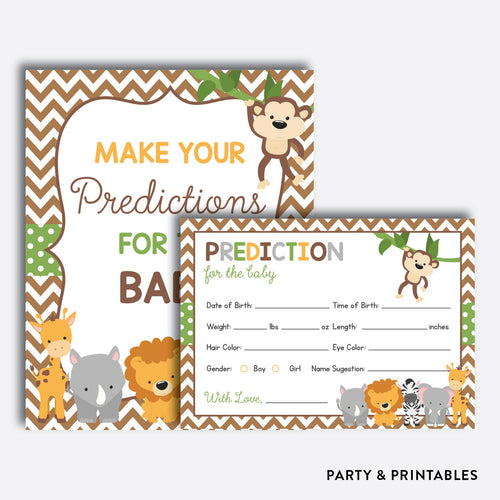 Baby Safari Predictions For The Baby / Non-Personalized / Instant Download (SBS.31)