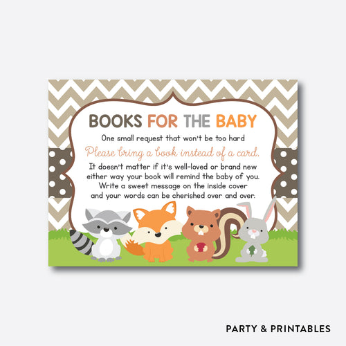 Woodland Books For The Baby / Non-Personalized / Instant Download (SBS.33)