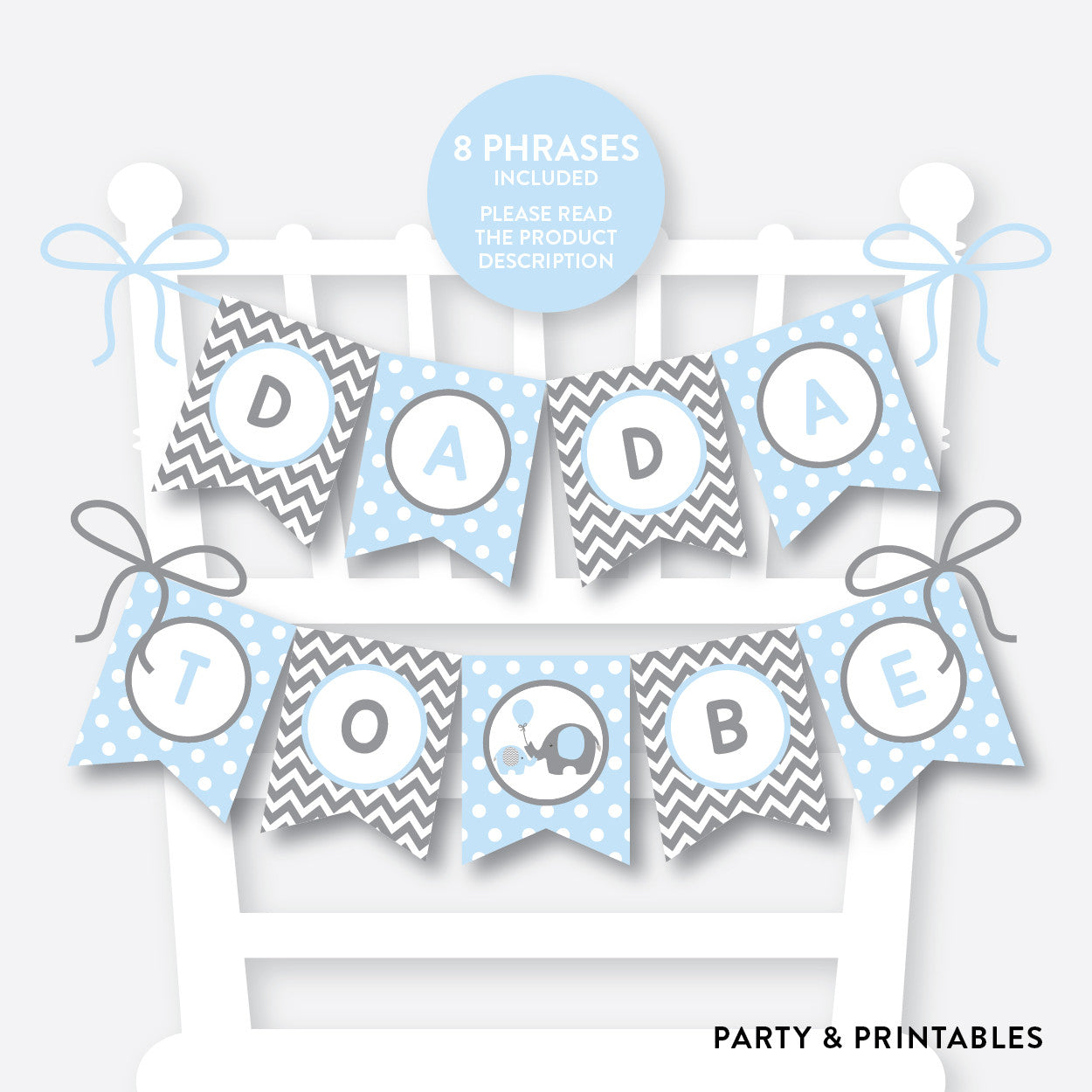 Elephant Chair Banner / Baby Shower Banner / Non-Personalized / Instant Download (SBS.35), party printables - Party and Printables
