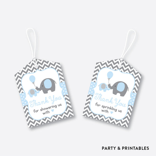 Elephant Favor Tags / Non-Personalized / Instant Download (SBS.35)