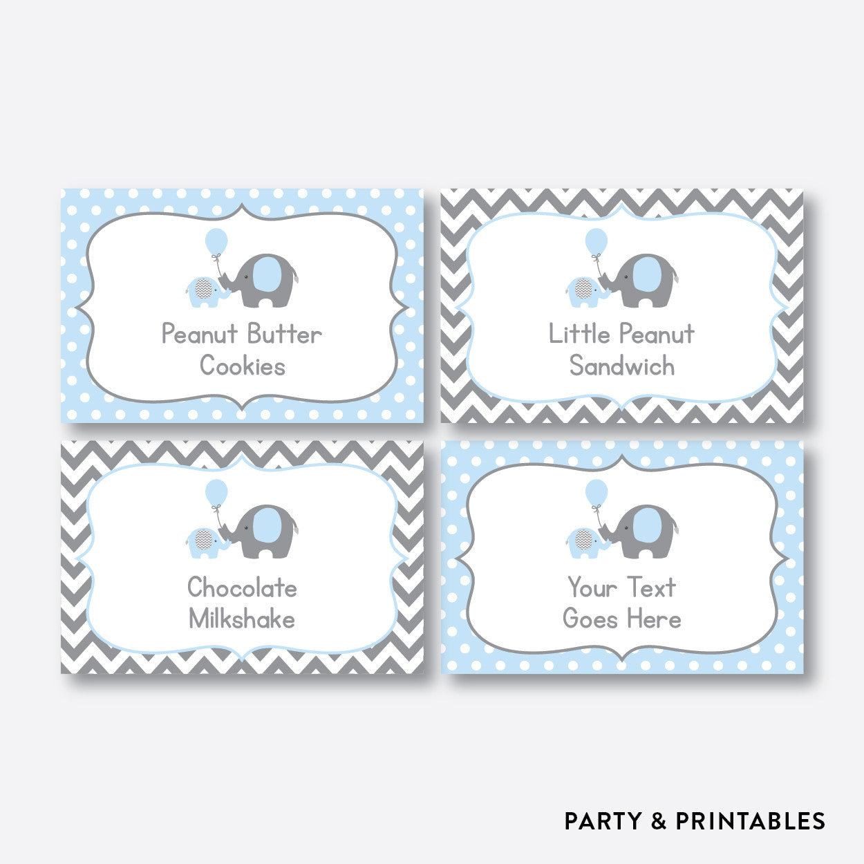 Elephant Food Labels / Editable / Instant Download (SBS.35), party printables - Party and Printables