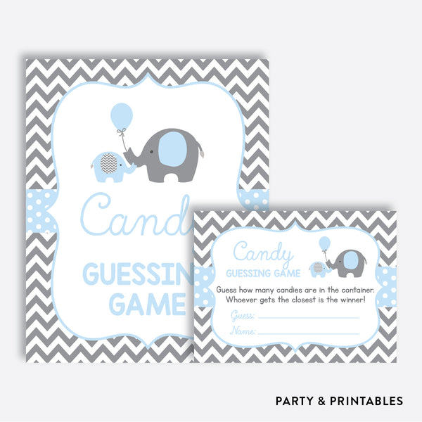 Elephant Guess How Many Candies / Non-Personalized / Instant Download (SBS.35)
