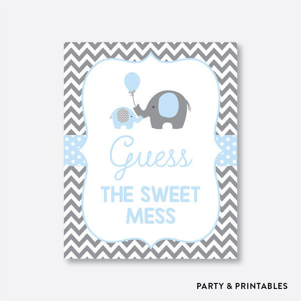 Elephant Guess The Sweet Mess / Non-Personalized / Instant Download (SBS.35)