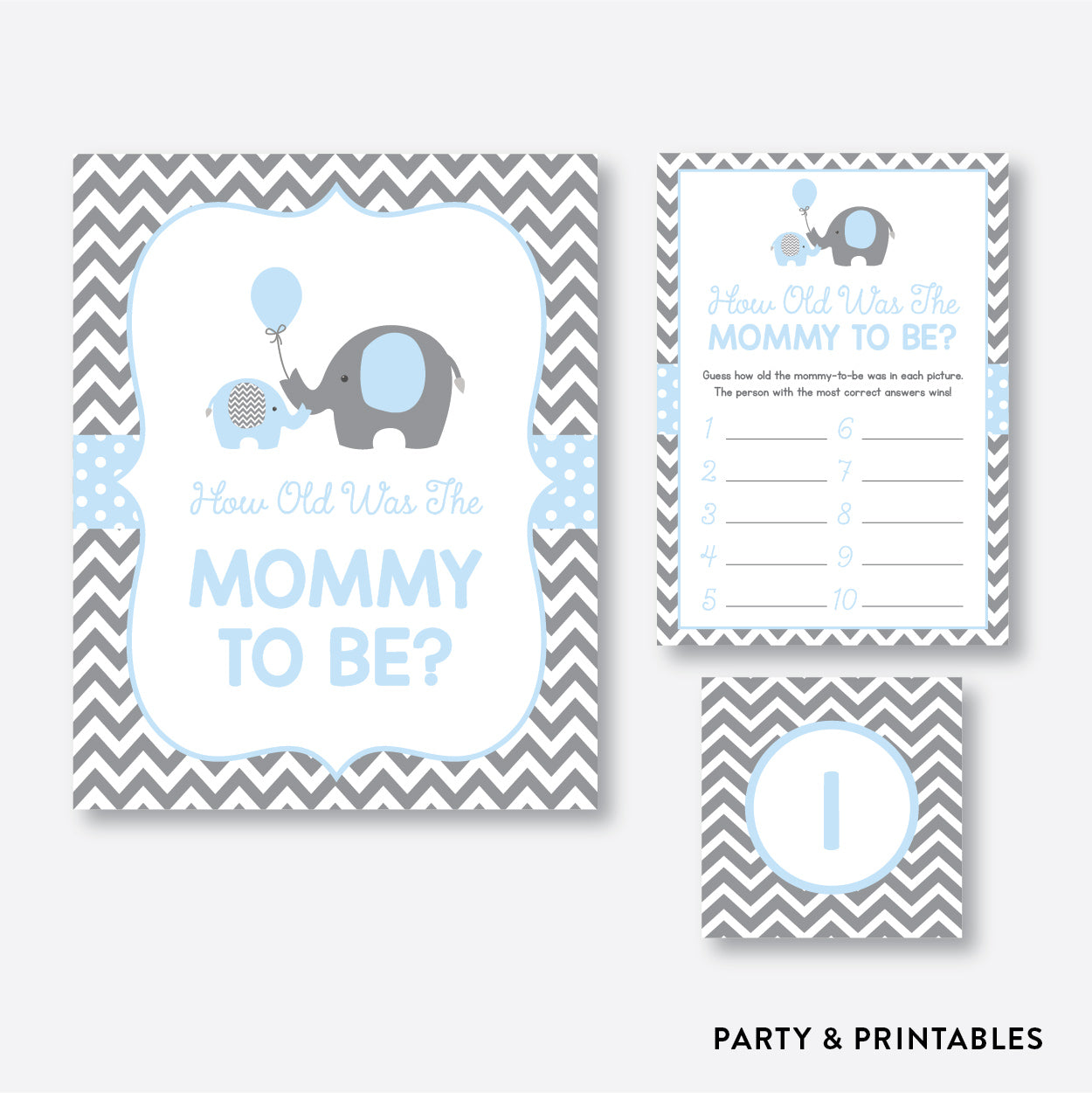 Elephant How Old Was Mommy To Be / Non-Personalized / Instant Download (SBS.35)
