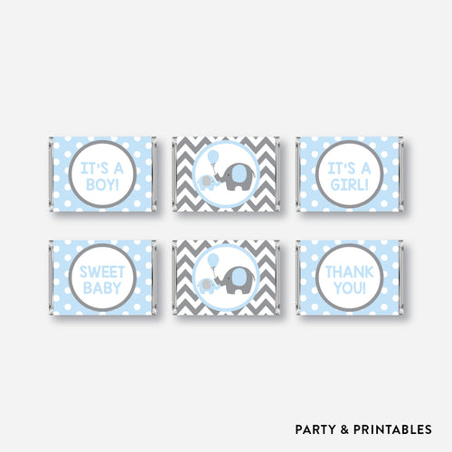 Elephant Mini Candy Bar Wrapper / Non-Personalized / Instant Download (SBS.35)