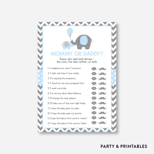 Elephant Mommy or Daddy / Non-Personalized / Instant Download (SBS.35)
