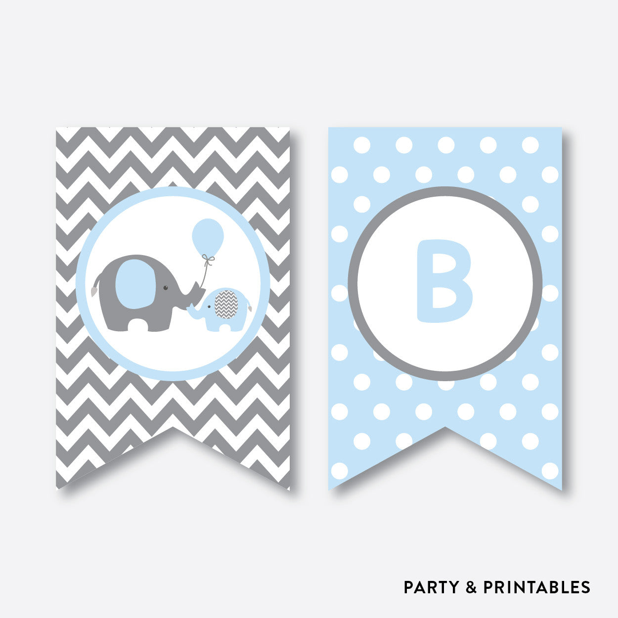graphic relating to Baby Shower Banner Printable identified as Elephant Get together Banner / Kid Shower Banner / Non-Tailored / Instantaneous Obtain (SBS.35)
