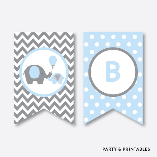 Elephant Party Banner / Baby Shower Banner / Non-Personalized / Instant Download (SBS.35)
