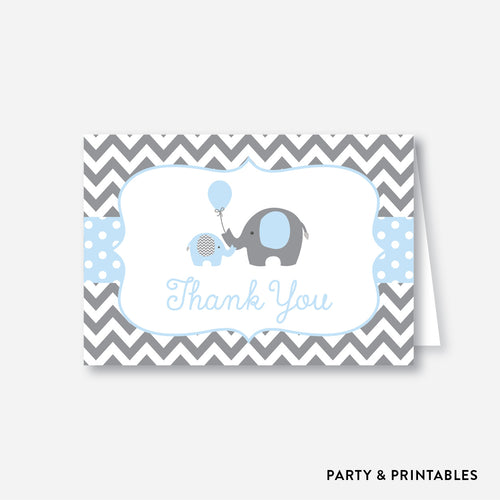 Elephant Baby Shower Thank You / Non-Personalized / Instant Download (SBS.35)