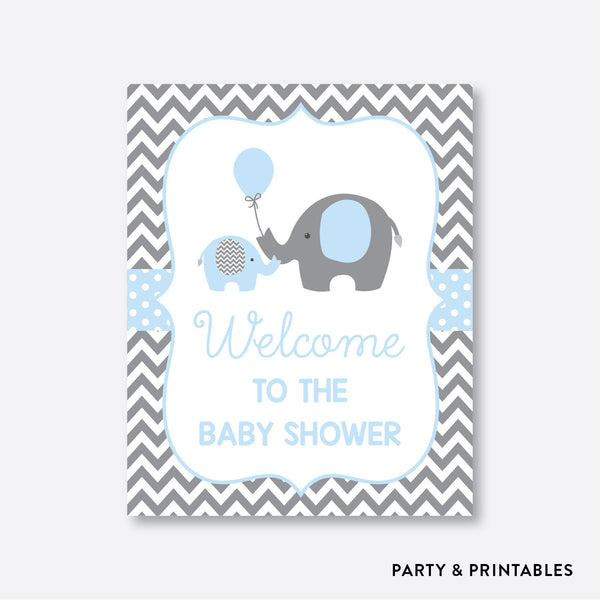 Elephant Welcome Sign / Non-Personalized / Instant Download (SBS.35)