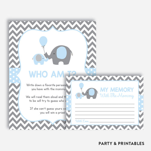 Elephant Who Am I / Non-Personalized / Instant Download (SBS.35)