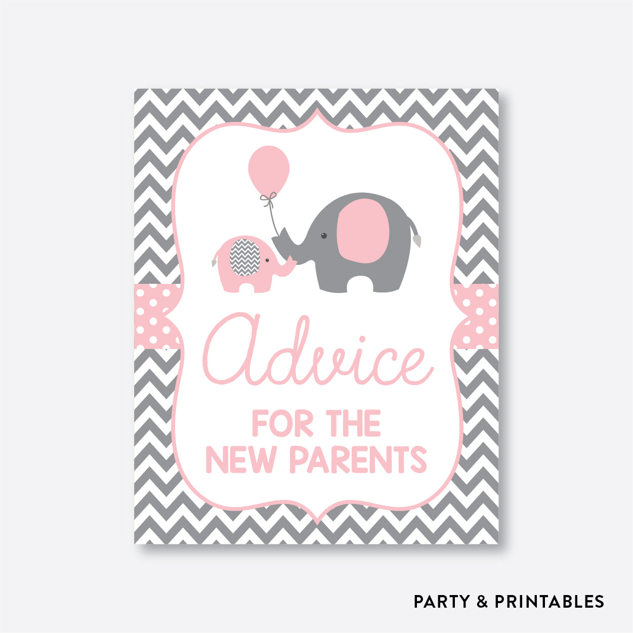 Elephant Advice For The Mommy To Be / Non-Personalized / Instant Download (SBS.36)