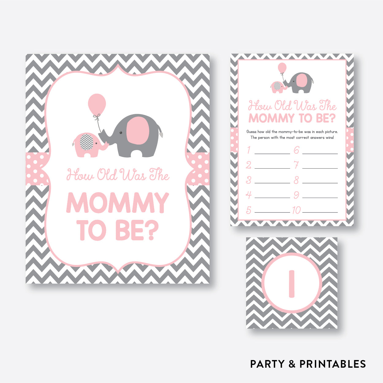 Elephant How Old Was Mommy To Be / Non-Personalized / Instant Download (SBS.36)