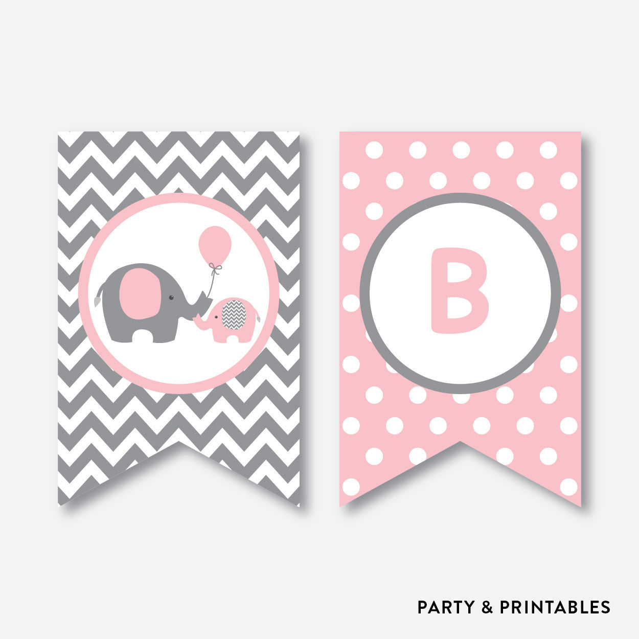 Elephant Party Banner / Baby Shower Banner / Non-Personalized / Instant Download (SBS.36), party printables - Party and Printables