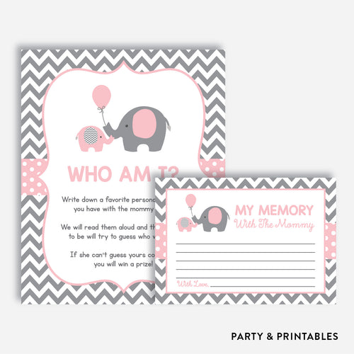 Elephant Who Am I / Non-Personalized / Instant Download (SBS.36)