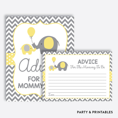 Elephant Advice For The Mommy To Be / Non-Personalized / Instant Download (SBS.37)