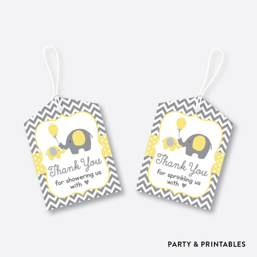 Elephant Favor Tags / Non-Personalized / Instant Download (SBS.37)