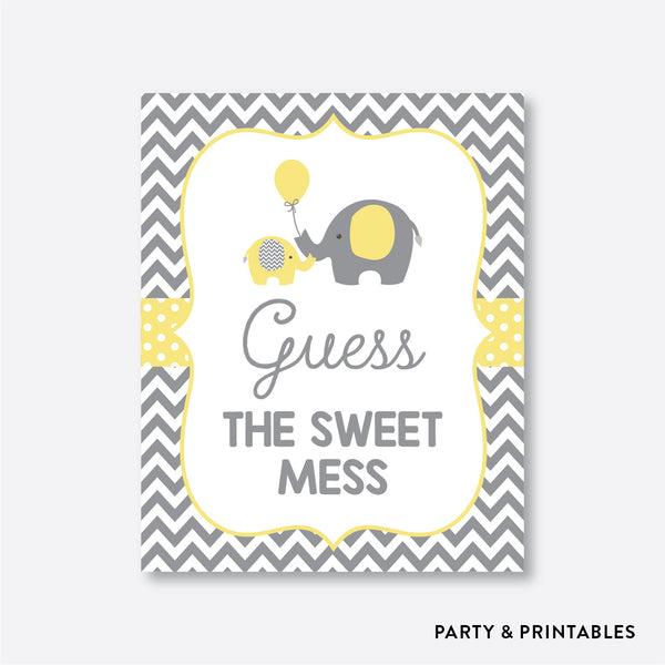 Elephant Guess The Sweet Mess / Non-Personalized / Instant Download (SBS.37)