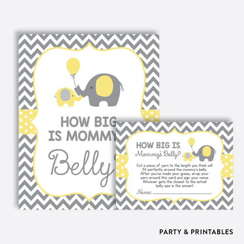 Elephant How Big is Mommy's Belly / Non-Personalized / Instant Download (SBS.37)