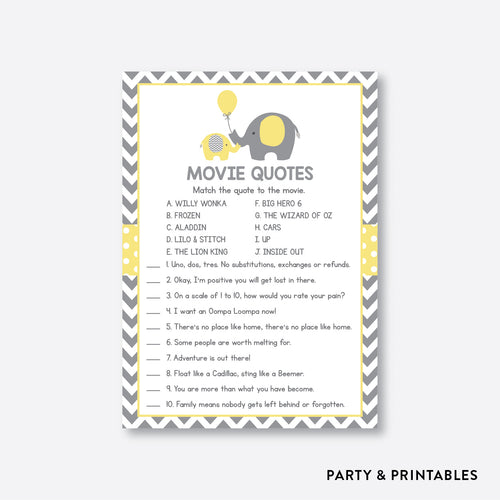 Elephant Movie Quotes / Non-Personalized / Instant Download (SBS.37)