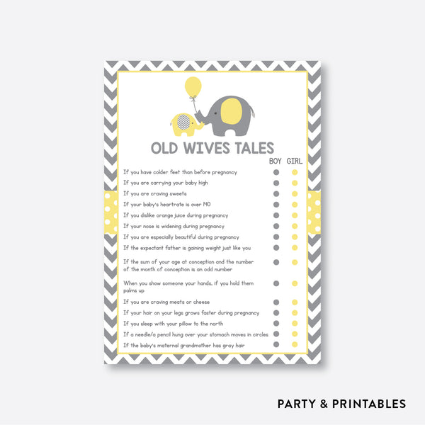 Elephant Old Wives Tales / Non-Personalized / Instant Download (SBS.37)