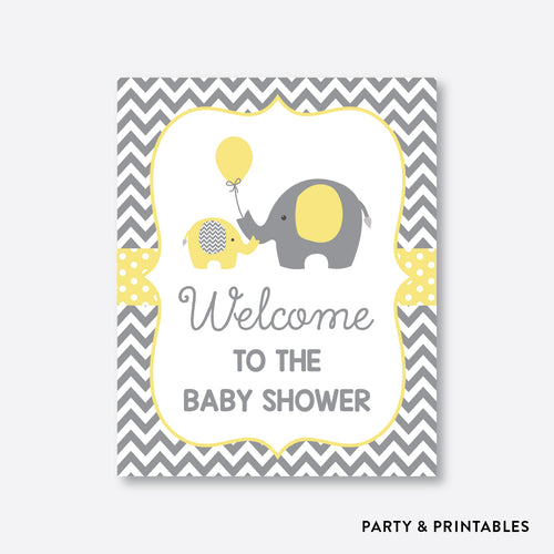 Elephant Welcome Sign / Non-Personalized / Instant Download (SBS.37)