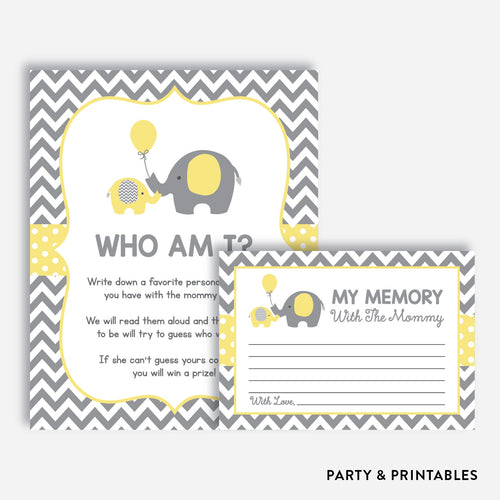 Elephant Who Am I / Non-Personalized / Instant Download (SBS.37)