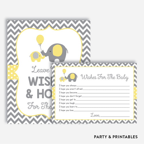 Elephant Wishes For The Baby / Non-Personalized / Instant Download (SBS.37)