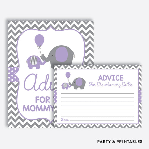 Elephant Advice For The Mommy To Be / Non-Personalized / Instant Download (SBS.38)