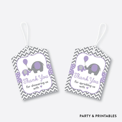 Elephant Favor Tags / Non-Personalized / Instant Download (SBS.38)