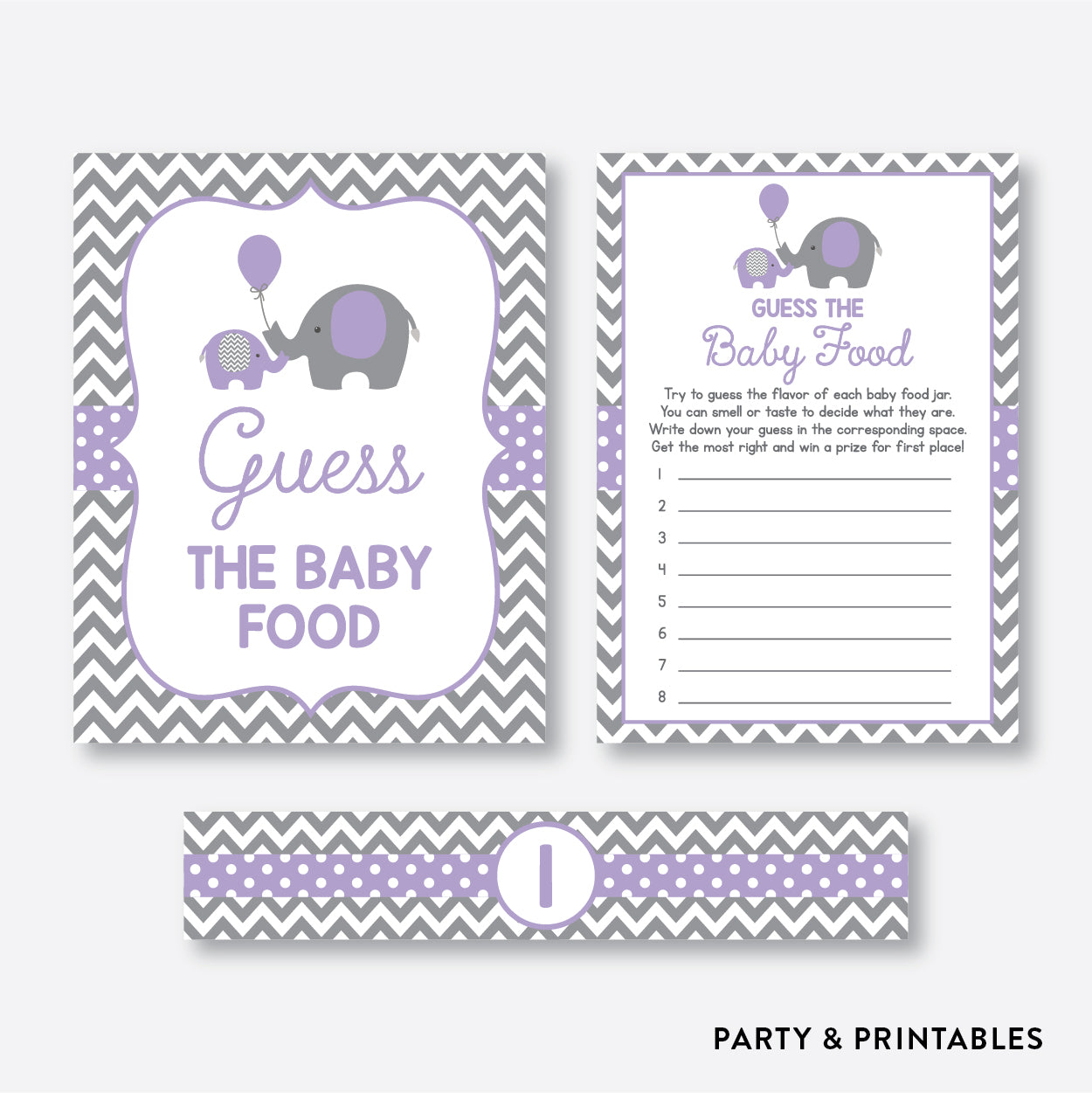 picture regarding Baby Food Game Printable titled Elephant Bet The Child Foodstuff / Non-Custom-made / Fast Down load (SBS.38)