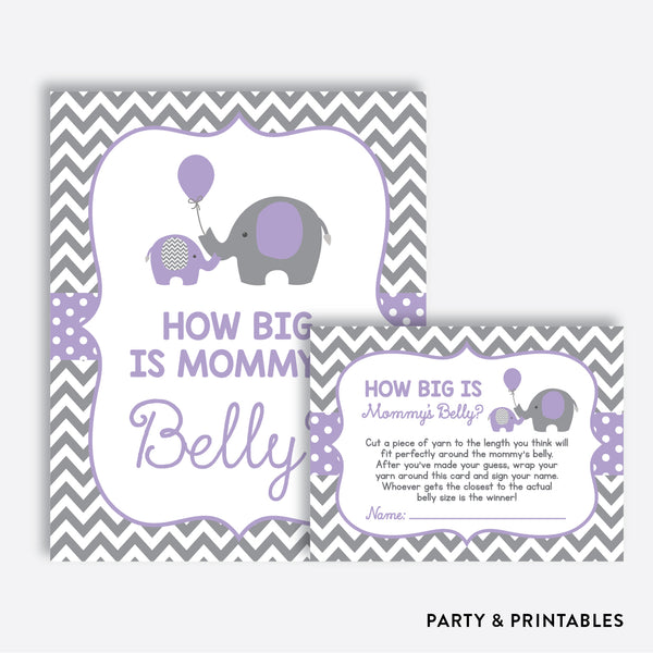 Elephant How Big is Mommy's Belly / Non-Personalized / Instant Download (SBS.38)