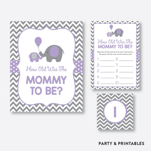 Elephant How Old Was Mommy To Be / Non-Personalized / Instant Download (SBS.38)