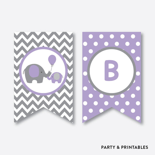 Elephant Party Banner / Baby Shower Banner / Non-Personalized / Instant Download (SBS.38)